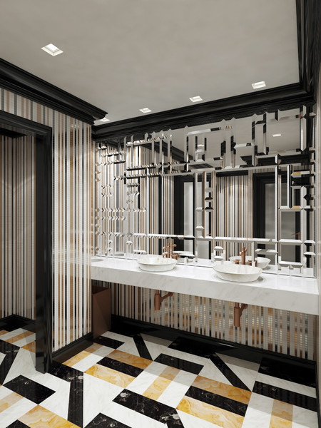 interior scene max - Washroom at restaurant... by zifir3d