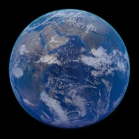 3d model realistic earth