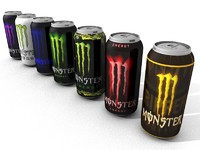 monster energy drink 3d model