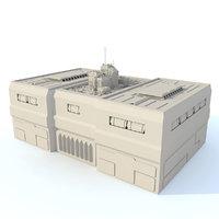 ma sci fi futuristic building