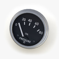 3d model oil pressure gauge