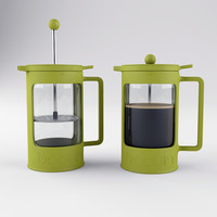 3d obj bodum bean french press