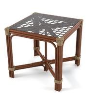 maya rattan table