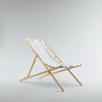 max wood cloth deck chair