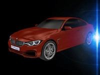 3d 4 series coupe model