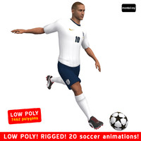 soccer player england 3d max
