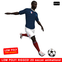 3d model soccer player france