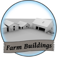 3d buildings farm model
