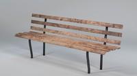 3d park garden bench uv layout