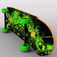3d model of skateboard v2