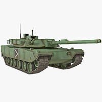 3d south korean main battle tank model