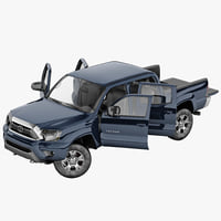 toyota tacoma 2012 rigged 3d model