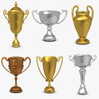 3dsmax trophy cup set