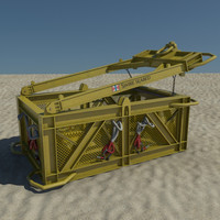 3d model deep sea basket