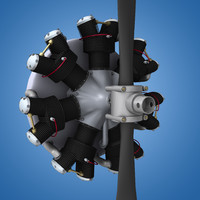radial engine aircraft 3d model