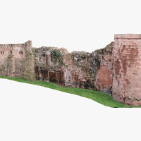 heidelberg castle wall medieval 3d model