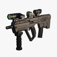 3d model assault rifle tavor x95