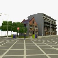3d 3ds city block 6 street