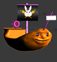 cartoon pirate ship 3d 3ds