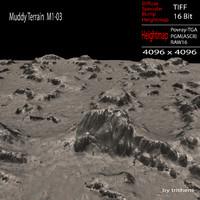 3d model muddy terrain m1-03