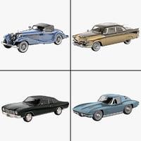 retro cars 23 3d max