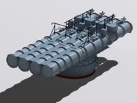 3d chta-53 torpedo tube model