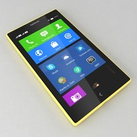 3d model of nokia xl yellow