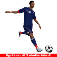 soccer player japan 3d max