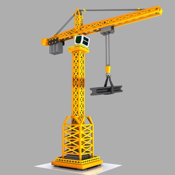 Tower Crane Engine : D model toon tower crane