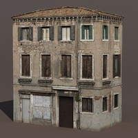 Apartment House #135 Low Poly 3d Building