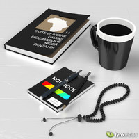 Ceramic Mug, Book and Notepad