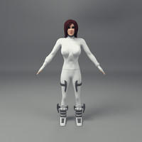 rigged female 3d model