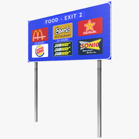 3ds max highway signage 3