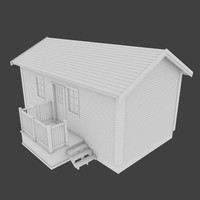 3d cabin exterior real