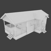 3d clad cabin interior model