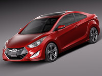 3d model 2014 coupe hyundai