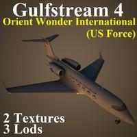 3dsmax gulfstream 4 usa