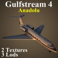 gulfstream 4 3d max