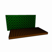 piece lego brick 12x24 3d 3ds
