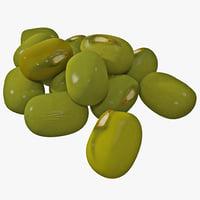3d mung beans model