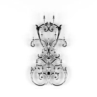 3d sconce baroque rendering model