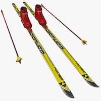 skis 2 3d max