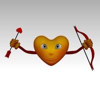 3d model cartoon heart