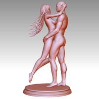 nude couple 3d model
