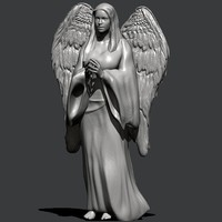 3d angel statue sculpture