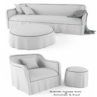 3d model busnelli arpege sofa