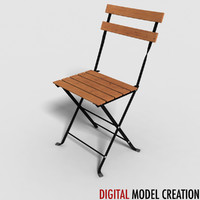 3d chair lawn furniture model