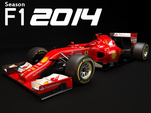 Ferrari F1 2014 Formula 1 3d models ferrari
