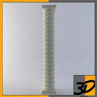 free roped column 3d model