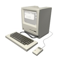 3d old macintosh computer mac